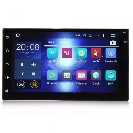 FastLine HD212 Androidos 2 dines autórádió, GPS-el magyar menüvel, Iso csatlakozóval NOD-321H52