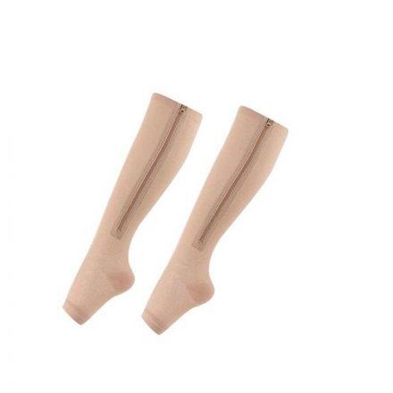 Brit&club Cipzáras bézs kompressziós zokni L/XL STH-T432R22