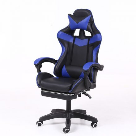RACING PRO X Gamer szék lábtartóval, kék-fekete (RP-SW110KF)