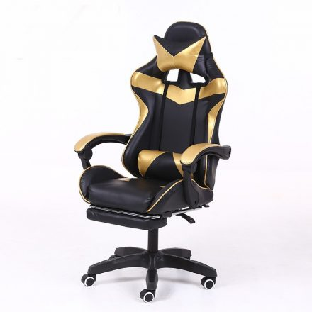 RACING PRO X Gamer szék lábtartóval, arany-fekete (RP-SW110AF)