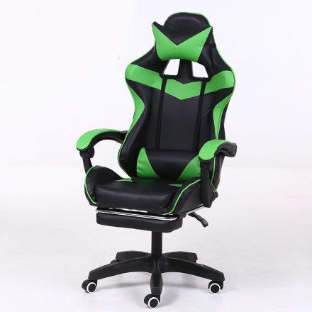 RACING PRO X Gamer szék lábtartóval, Zöld-fekete (RP-SW110ZF)
