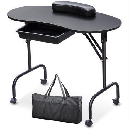 Homeland Hordozható manikűrös asztal-fekete (HO-SW110FK)