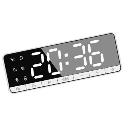 NewLine  Bluetooth-os digitális ébresztőóra - fehér RAM-MD414