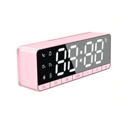Homeland Bluetooth-os digitális ébresztőóra - pink NDG-DE655