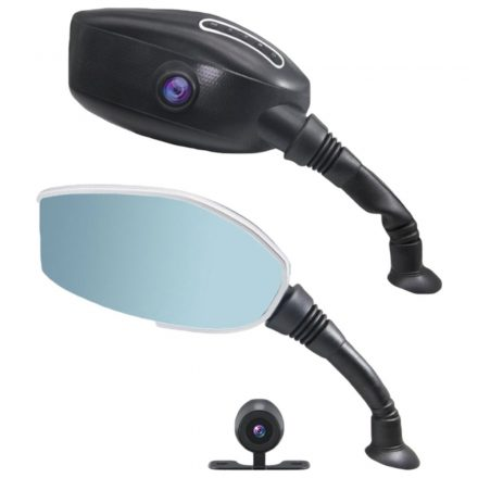 Wheeldex Visszapillantó tükörbe épített tolató és eseményrögzítő kamera motorra -2IN1- MTS-CW79