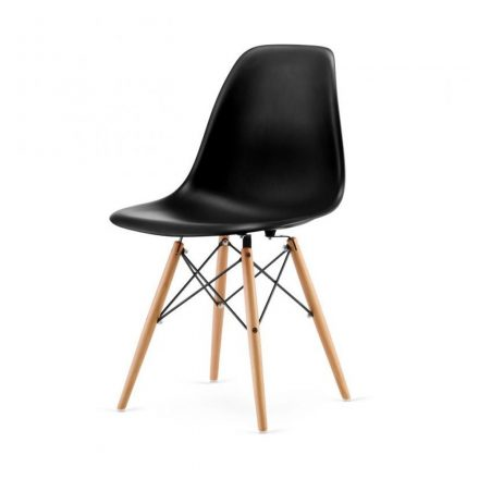 Homeland  4 db modern konyhai szék fekete (KCH-SW110FK)