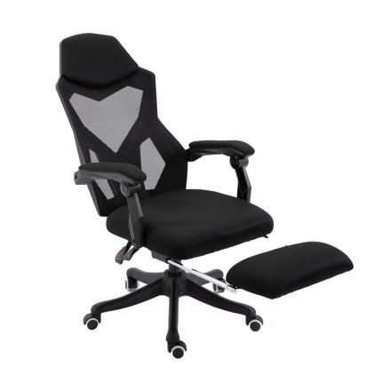 Helo Gamer szék lábtartóval fekete (HO-SW110FK)