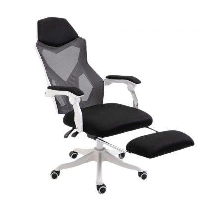 Helo Gamer szék lábtartóval fehér (HO-SW110FH)