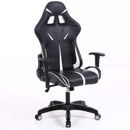Sintact Gamer szék Fehér-Fekete lábtartó nélkül (SG-SW110FF)