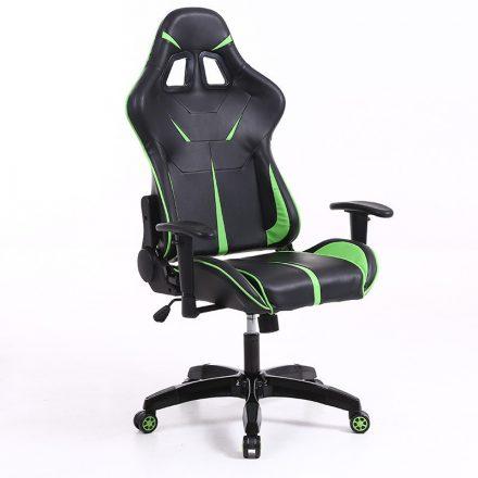 Sintact Gamer szék Zöld-Fekete Lábtartónélkül (SG-SW110ZF)
