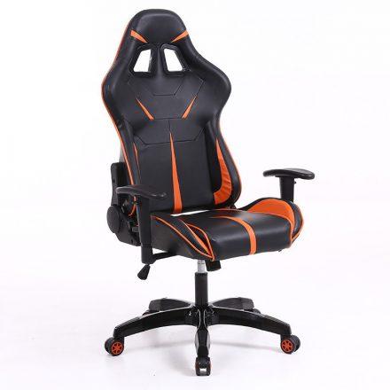 Sintact Gamer szék Narancs-Fekete lábtartónélkül (SG-SW110NK)