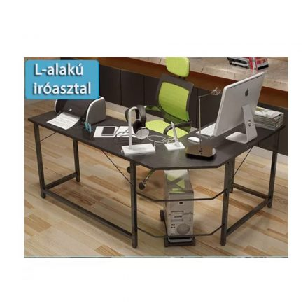 Homeland Számítógépes sarok asztal - sötét (SZ-SW110GY)