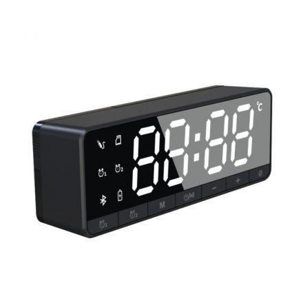 NewLine Bluetooth-os digitális ébresztőóra - fekete RAM-MD415