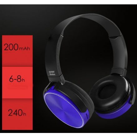 Crispy 450TB Kék Bluetooth fejhallgató NZH-CW793