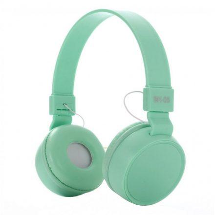 Liro bk05 fejhallgató türkiz zöld  NZH-CW828