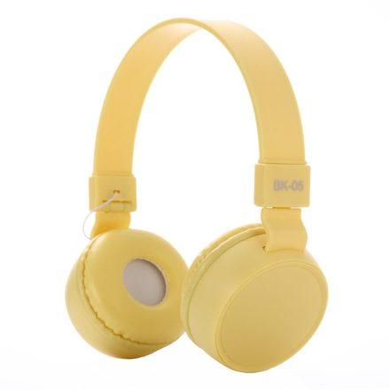 Liro bk05 fejhallgató sárga NZH-CW827