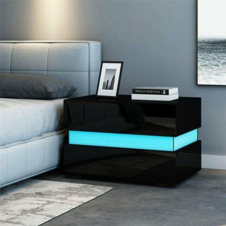 Homeland RGB éjszakai asztal fekete (HM-SW110FK)