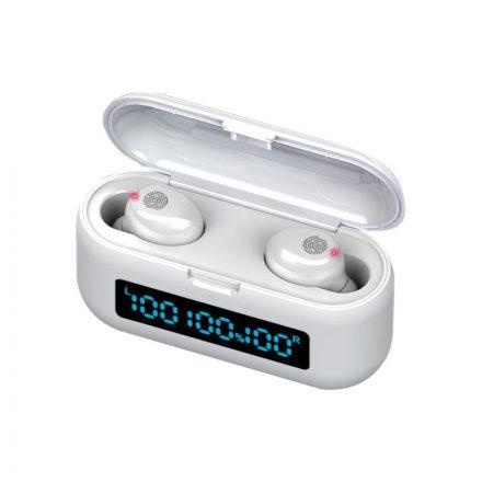 CozyPlay TWS F9 Bluetooth fülhallgató powerbankkal fehér NZH-CW857