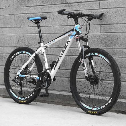 Laux Jack mountain bike kék-fehér hagyományos küllős kivitel