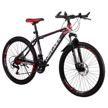 Laux Jack mountain bike piros -fekete hagyományos küllős kivitel
